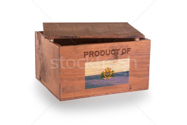 Stock fotó: Fából · készült · láda · izolált · fehér · termék · San · Marino