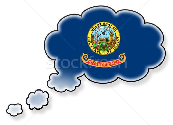 Bayrak bulut yalıtılmış beyaz Idaho sanat Stok fotoğraf © michaklootwijk