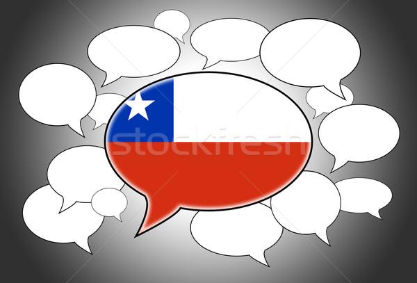 Bandeira Chile fundo espaço branco Foto stock © michaklootwijk