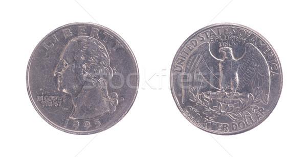 Twenty five American cents on a white background Stock photo © michaklootwijk