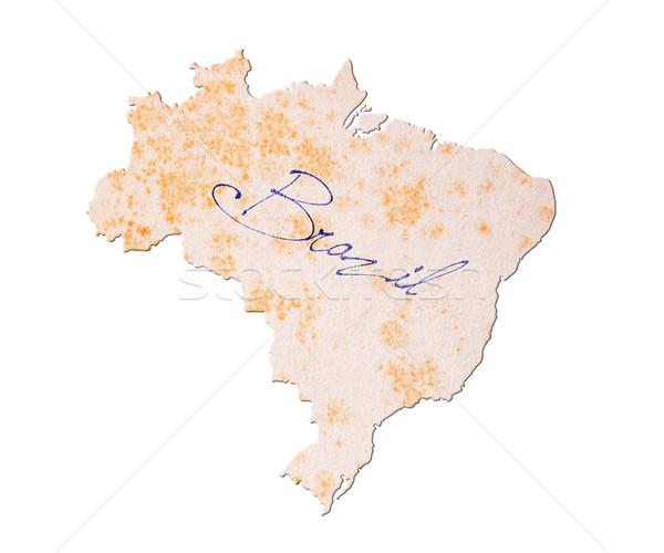 Brésil vieux papier écriture bleu encre papier Photo stock © michaklootwijk