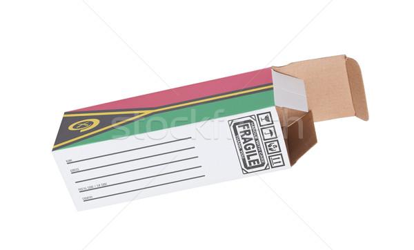 экспорт продукт Вануату бумаги окна Сток-фото © michaklootwijk