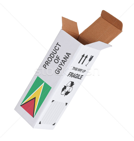 Exporteren product Guyana papier vak Stockfoto © michaklootwijk