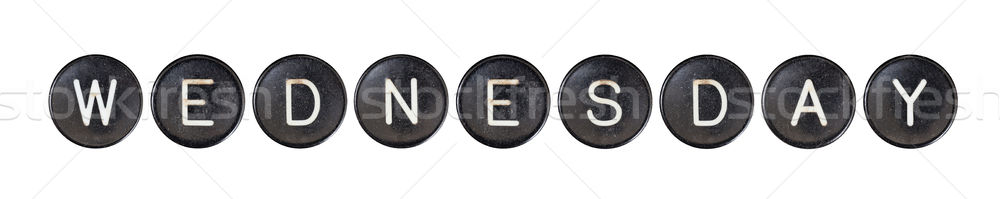Typewriter buttons, isolated - Wednesday Stock photo © michaklootwijk