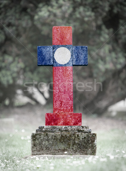 Gravestone in the cemetery - Laos Stock photo © michaklootwijk