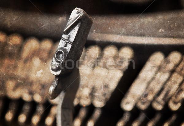 9 hammer - old manual typewriter - warm filter Stock photo © michaklootwijk