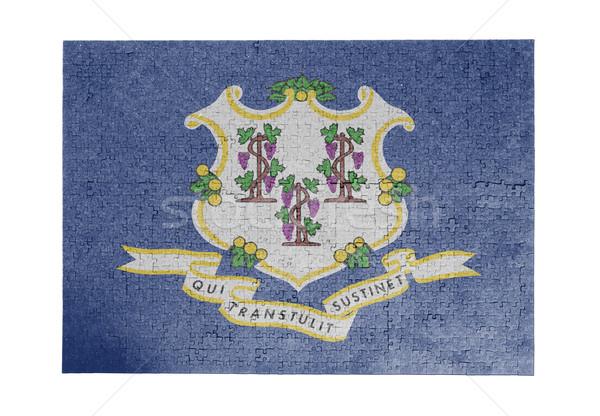 Grande 1000 peças Connecticut bandeira Foto stock © michaklootwijk