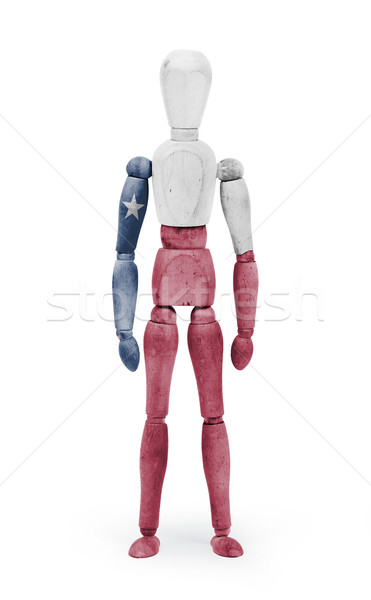 Wood figure mannequin with US state flag bodypaint - Texas Stock photo © michaklootwijk