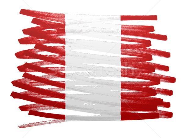 Zászló illusztráció Peru toll terv művészet Stock fotó © michaklootwijk