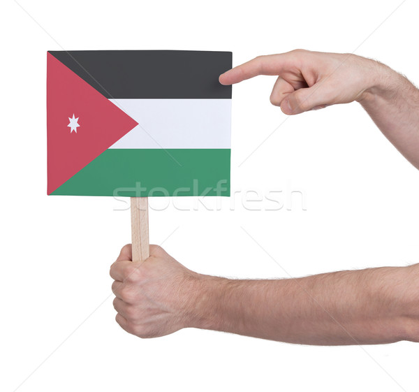 Hand klein kaart vlag Jordanië Stockfoto © michaklootwijk