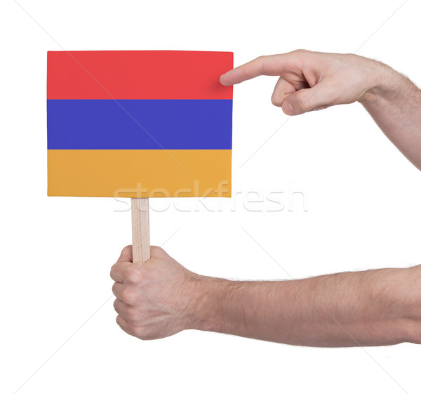 стороны небольшой карт флаг Армения Сток-фото © michaklootwijk
