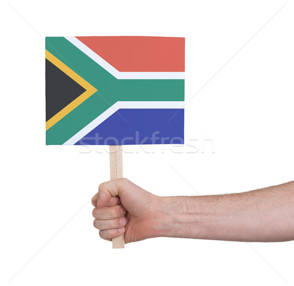 Hand klein kaart vlag South Africa Stockfoto © michaklootwijk