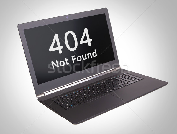 Http estado código 404 no portátil Foto stock © michaklootwijk