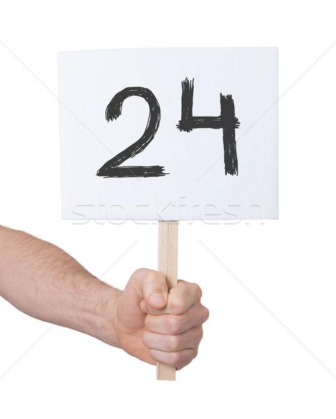 Imzalamak numara 24 yalıtılmış beyaz iş Stok fotoğraf © michaklootwijk