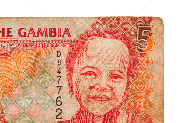 5 Gambian dalasi bank note Stock photo © michaklootwijk