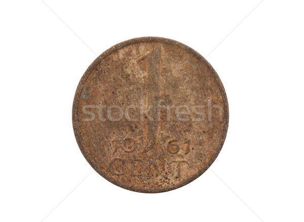 Old dutch cent coin, isolated Stock photo © michaklootwijk