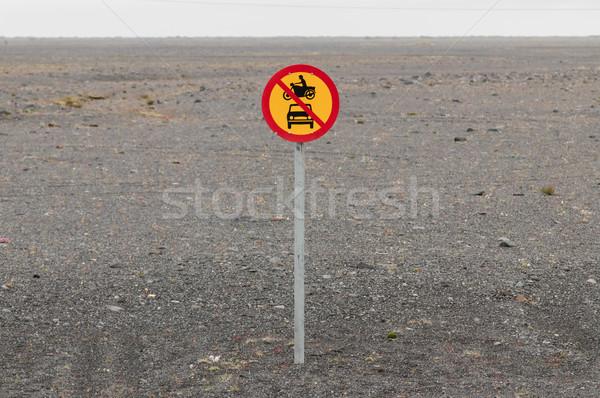 モータ 車 許可された 道路標識 自然 ストックフォト © michaklootwijk