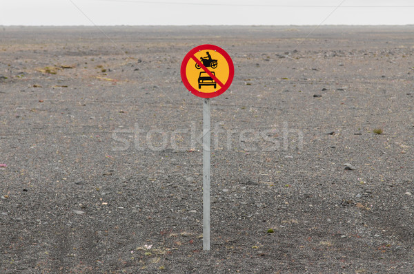 No motor vehicles allowed Stock photo © michaklootwijk