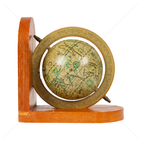 Small decorative antique globe, isolated Stock photo © michaklootwijk