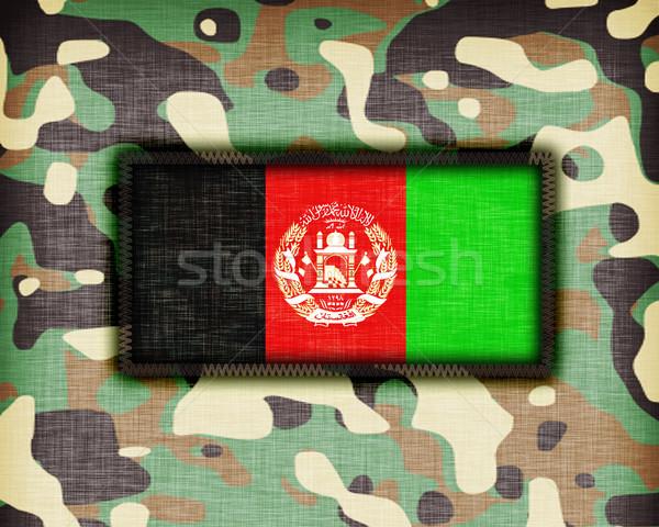 üniforma Afganistan bayrak doku yeşil Stok fotoğraf © michaklootwijk