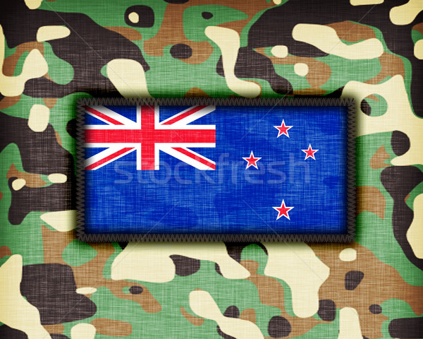 álca egyenruha Új-Zéland zászló absztrakt zöld Stock fotó © michaklootwijk