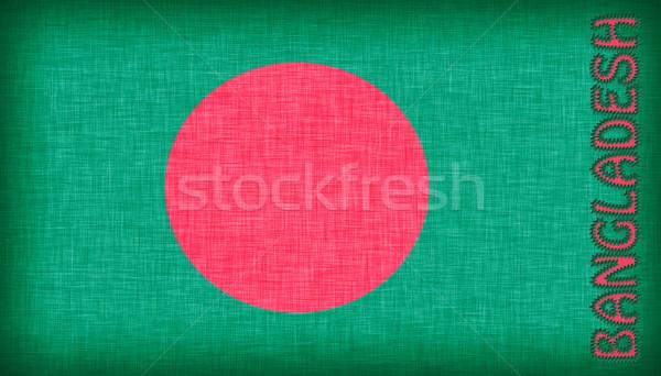 Bayrak Bangladeş harfler yalıtılmış Stok fotoğraf © michaklootwijk