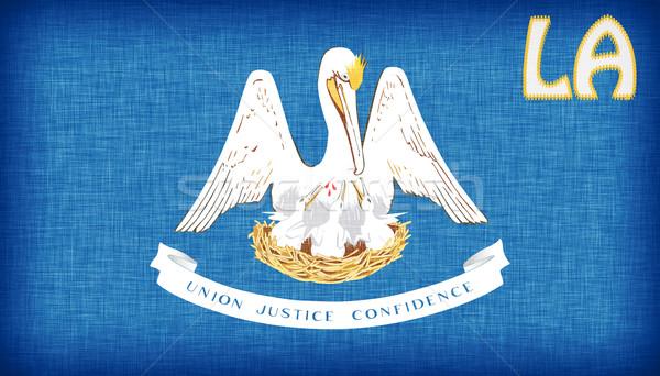 Bandiera Louisiana abbreviazione tessuto paese Foto d'archivio © michaklootwijk