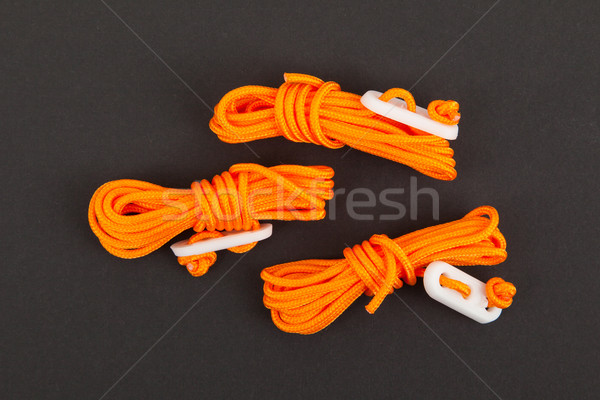 Orange rope used for bracing a tent Stock photo © michaklootwijk