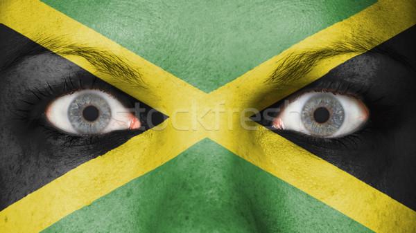 Stockfoto: Ogen · vlag · geschilderd · gezicht · Jamaica