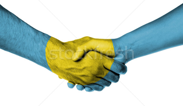 男 女性 握手 フラグ パターン パラオ ストックフォト © michaklootwijk