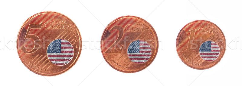 ヨーロッパの 組合 フラグ 米国 現金 ヨーロッパ ストックフォト © michaklootwijk