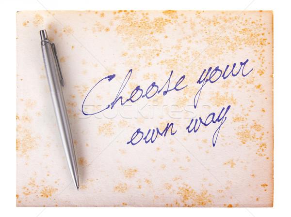 Vechi de hârtie grunge alege propriu mod alb Imagine de stoc © michaklootwijk