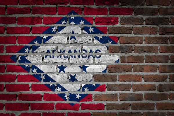 Donkere muur Arkansas textuur vlag geschilderd Stockfoto © michaklootwijk
