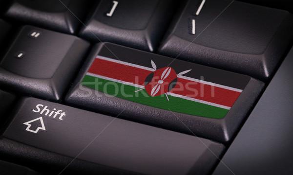 フラグ キーボード ボタン ケニア デザイン ノートパソコン ストックフォト © michaklootwijk