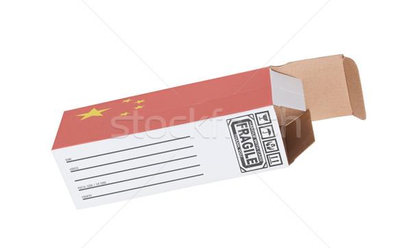 экспорт продукт Китай бумаги окна Сток-фото © michaklootwijk