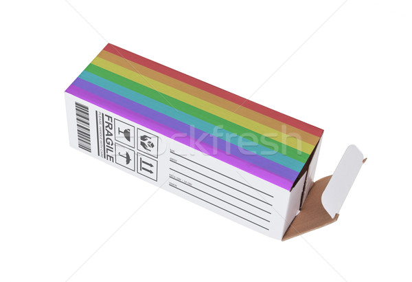 Esportazione Rainbow bandiera carta finestra Foto d'archivio © michaklootwijk