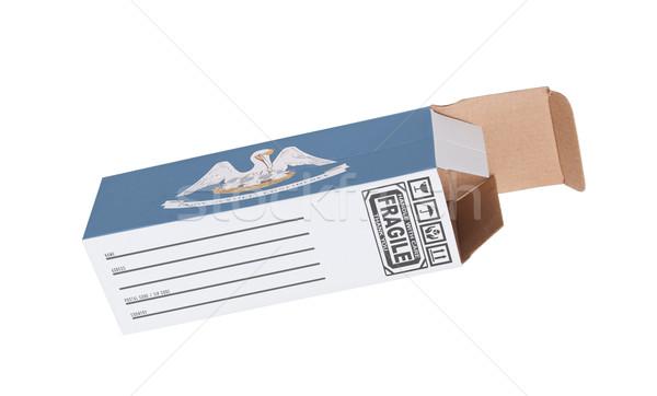 Stockfoto: Exporteren · product · Louisiana · papier · vak