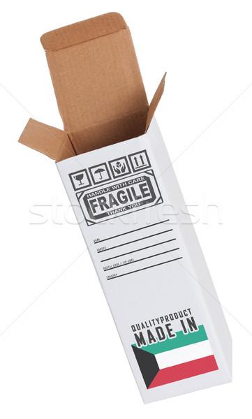 Exportar produto Kuweit papel caixa Foto stock © michaklootwijk