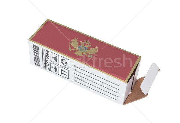 Eksport produktu Czarnogóra papieru polu Zdjęcia stock © michaklootwijk