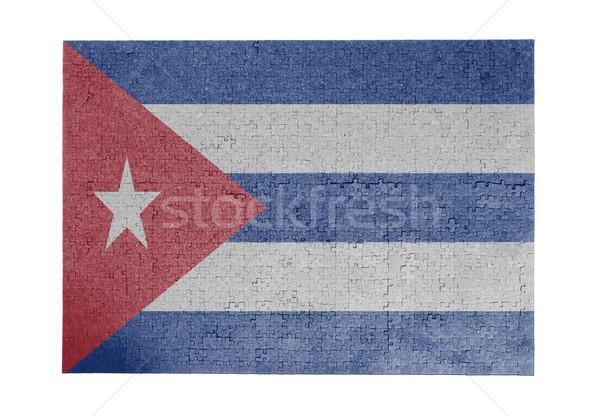 большой 1000 частей Куба флаг Сток-фото © michaklootwijk