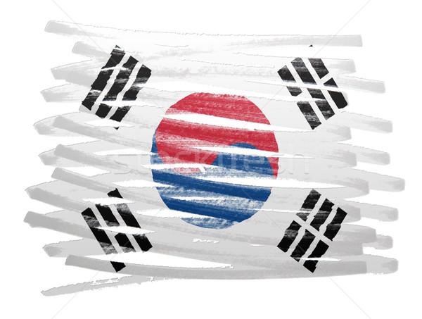 Flag illustration - South Korea Stock photo © michaklootwijk