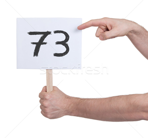 Sign with a number, 73 Stock photo © michaklootwijk