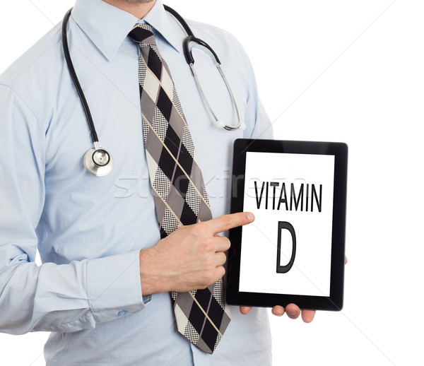 Médecin comprimé vitamine d isolé blanche Photo stock © michaklootwijk