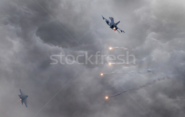 Fighter jets flying fast  Stock photo © michaklootwijk