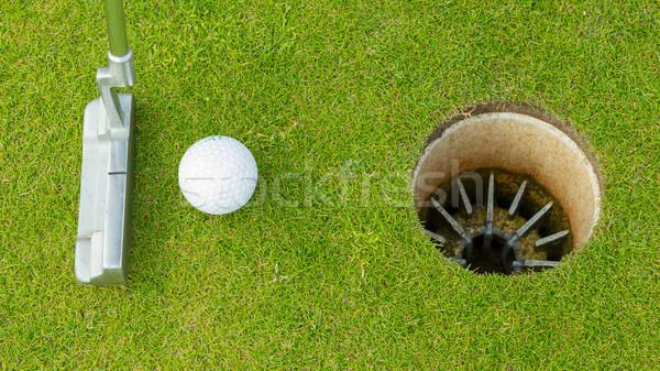 Golflabda zöld fű sport klub jókedv Stock fotó © michaklootwijk