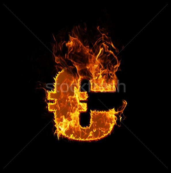 Fire euro sign Stock photo © michaklootwijk