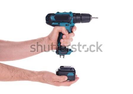 Férfi fegyver gengszter fókusz bűnözés férfi Stock fotó © michaklootwijk