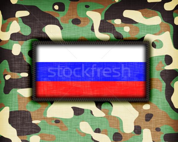 Uniforme Rússia bandeira textura abstrato Foto stock © michaklootwijk