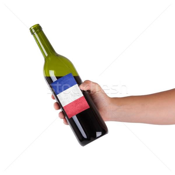 стороны бутылку Label Франция Сток-фото © michaklootwijk