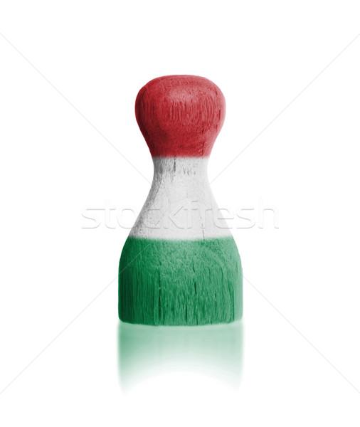 Живопись флаг Венгрия краской Сток-фото © michaklootwijk